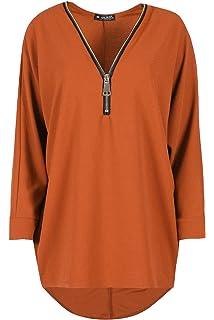 Womens Plus Plain Oversized Knit Long Sleeve Batwing Dip Hem Baggy Ladies Top