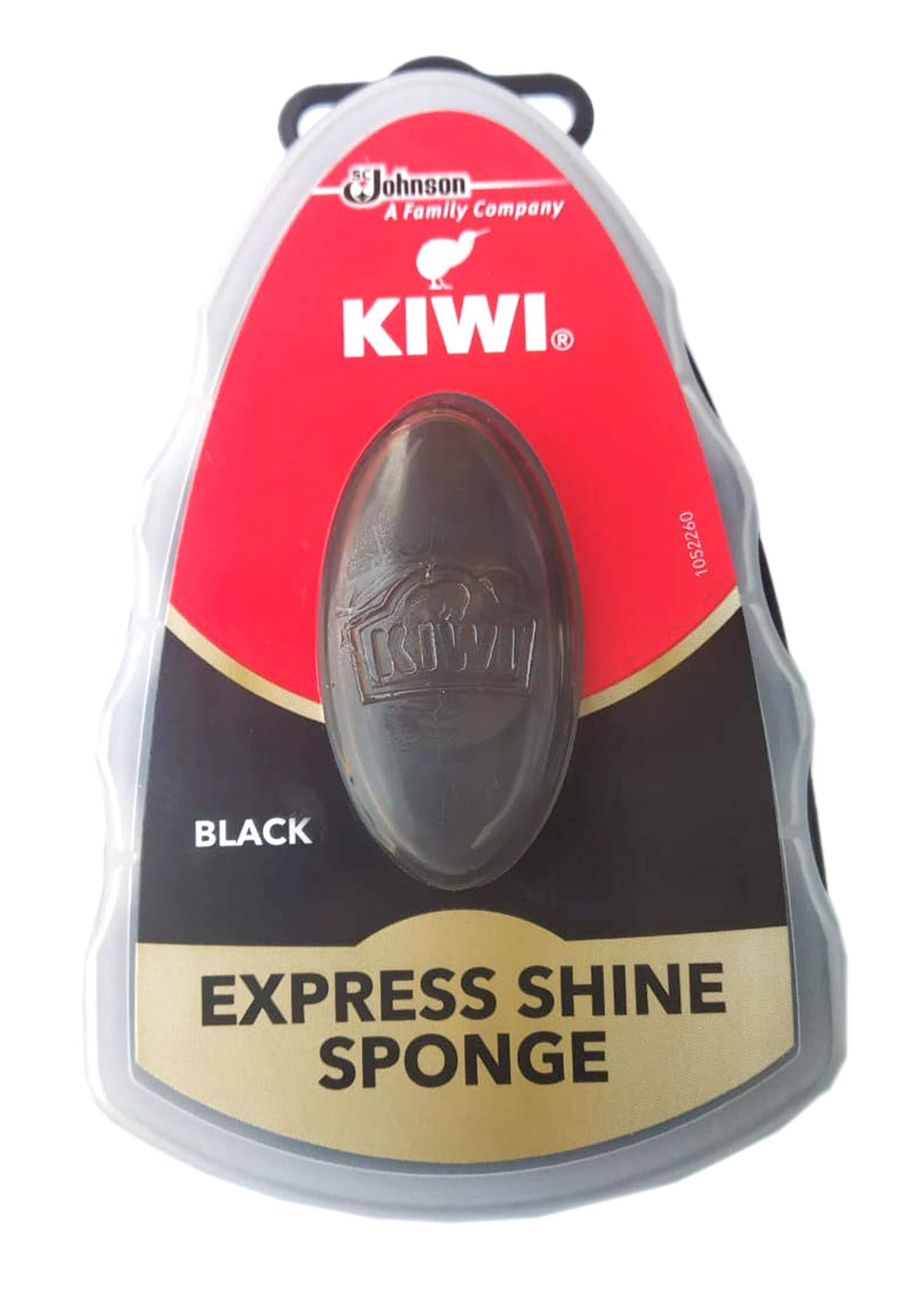 Kiwi Express Shoe Shine Sponge, 0.2 fl oz, Black