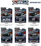 Hot Pursuit Series 22, 6pc Diecast Car Set 1/64 by Greenlight 42790