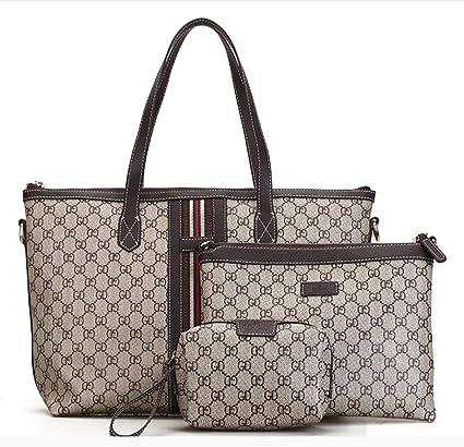 c5bbc45a19 BABAYD New Women Shoulder Bag 3 Piece Tote Bag Pu Leather Handbag Purse  Bags Set