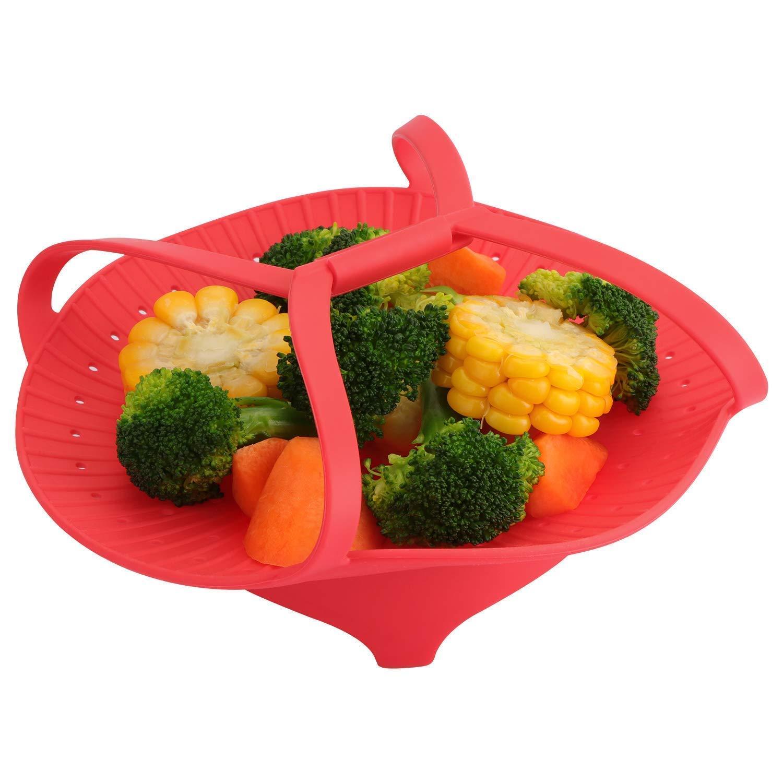 Cucina Helper pacchi di silicone Easyveggie cottura a vapore per verdure lovers dieta healthy-eater , privo di BPA (rosso) Prezzi
