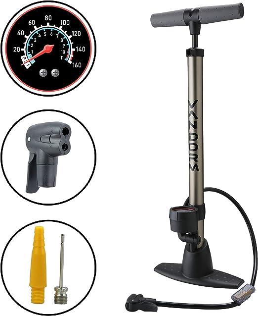 Vandorm Legend VII - Bomba de pie para Bicicleta con calibrador y ...