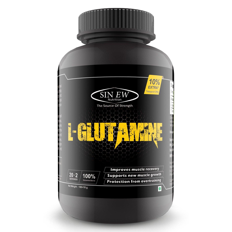 100% Pure Sinew Nutrition L-Glutamine Powder 110gm