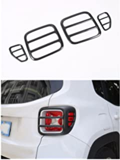 Amazon jeep renegade bu 40 curved or straight led light bar fmtoppeak black metal tail light rear lamp protector guard cover for 2014 up jeep renegade aloadofball Choice Image