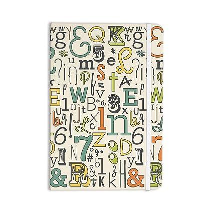 kess inhouse todo lo Notebook, diario Busy Bree abc, color beige ...