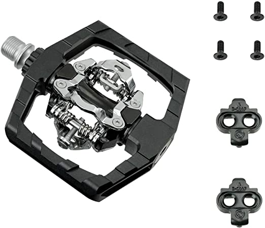 Easy Clip in /& Out Venzo Compatible with Shimano SPD Mountain Bike CNC 6061 Aluminum Sealed Pedals with Cleats Dual Platform Double Side Clipless Pedals for Mountain Bike