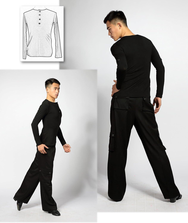 Nuevo patr/ón SCGGINTTANZ G5003 Profesional Maillots de Danza Latino Latin Moderno Baile para Hombre