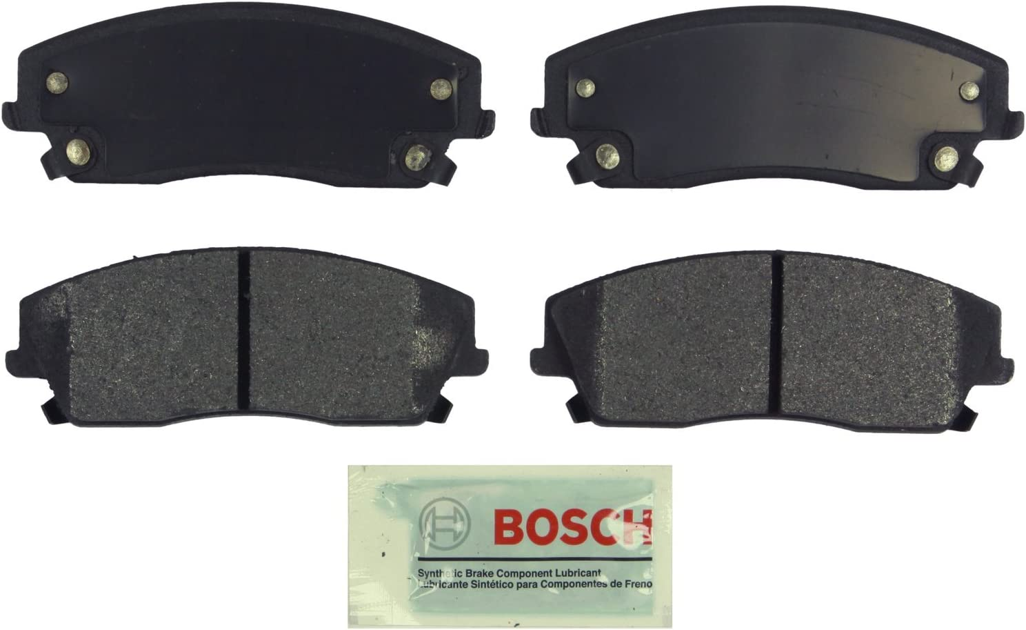 FRONT Bosch BE1056H Blue Disc Brake Pad Set with Hardware for Select Chrysler 300 and Dodge Challenger Magnum Charger