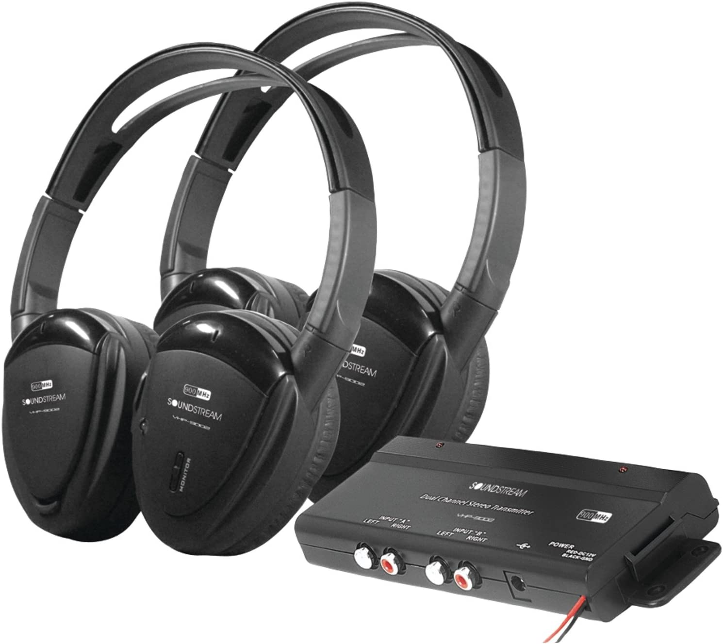 B001584QQU Power Acoustik HP902R Feet POWER ACCOUSTIC 2 SWIVEL 2CH. WIRELESS 715CK8jAAgL.SL1500_