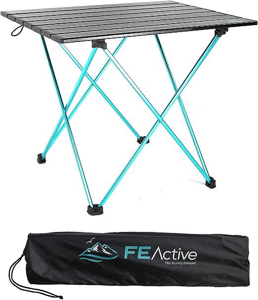 FE Active- Mesa Plegable compacta Fabricada con Aluminio, Mesa de ...