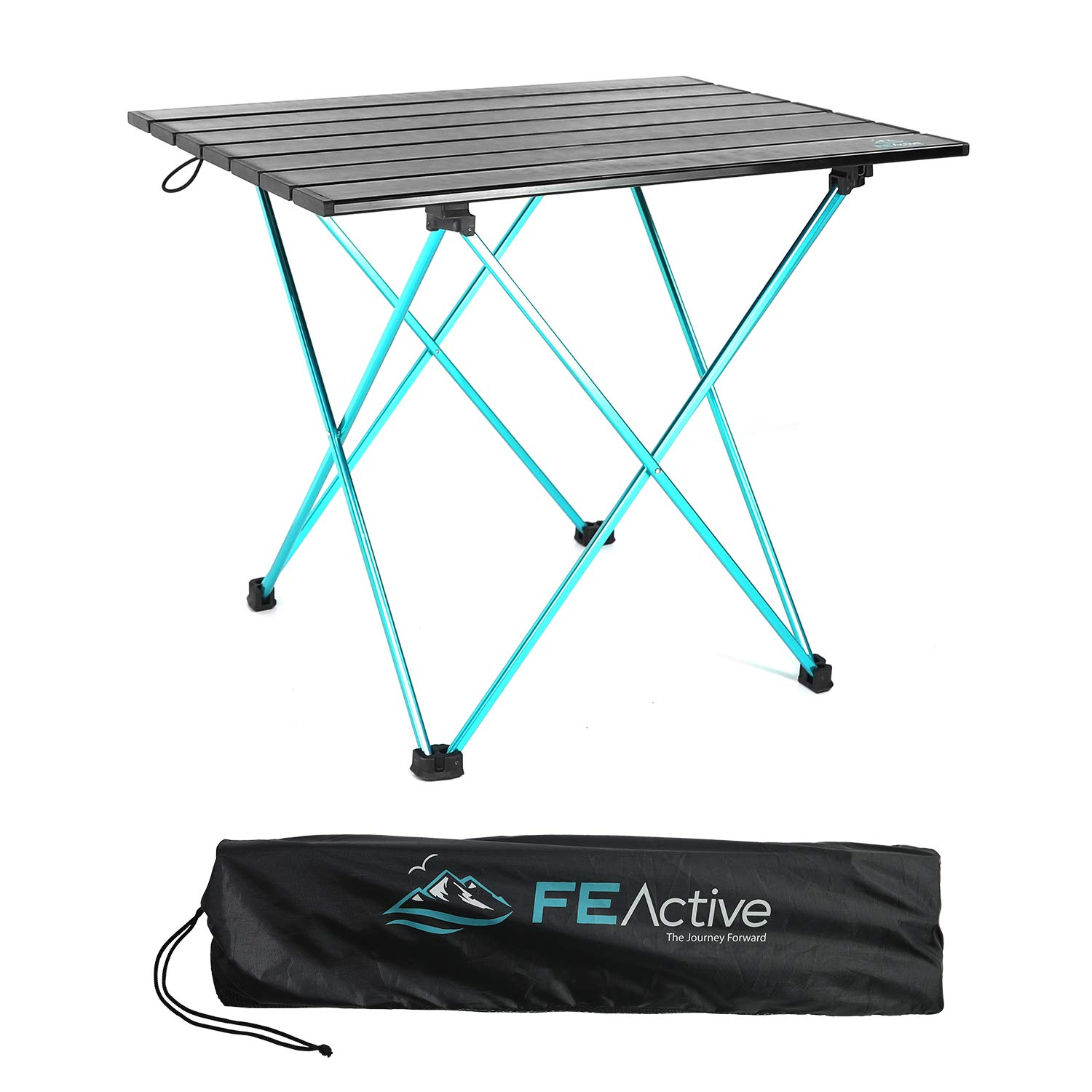 FE Active – Compact Folding Table Built with Full Aluminum Designed as Ultralight Portable Camping Table for Beach, Hiking, Trekking, Backpacking, Camping, Sports Games Designed in California, USA