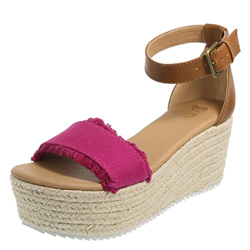 be4a5b3f743 Brash Fuschia Women s Tessa Platform Wedge Sandal 9.5 Regular ...