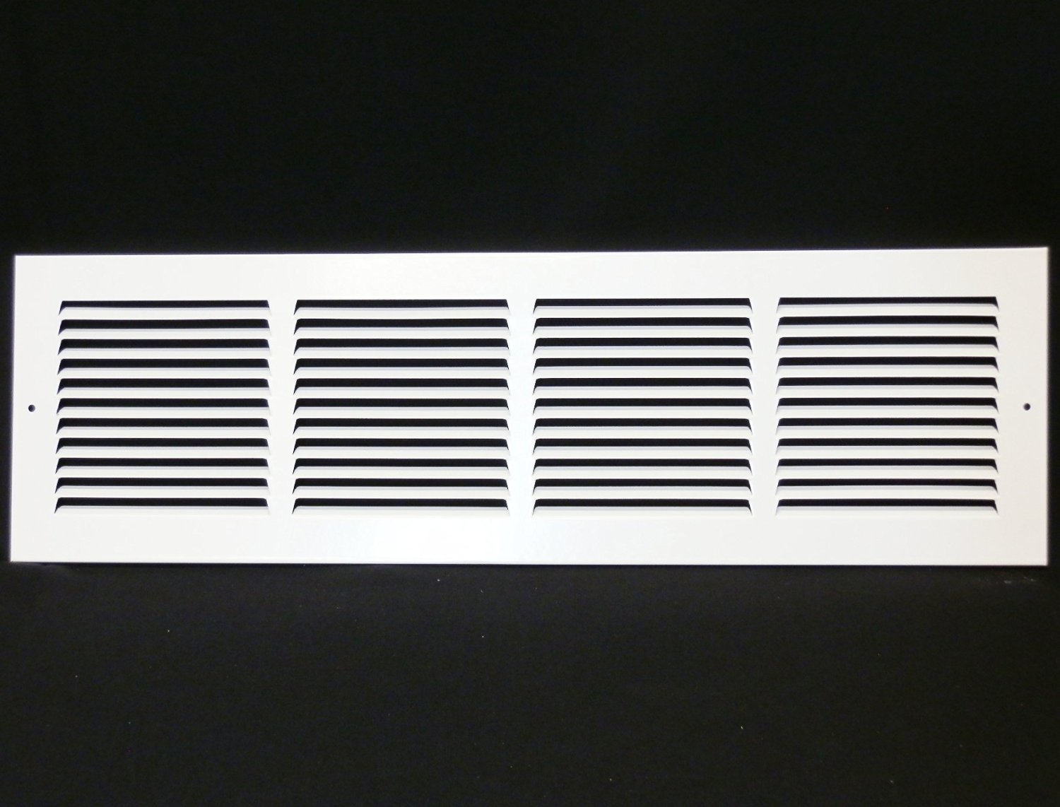 24''w X 6''h Steel Return Air Grilles - Sidewall and Cieling - HVAC DUCT COVER - White [Outer Dimensions: 25.75''w X 7.75''h]