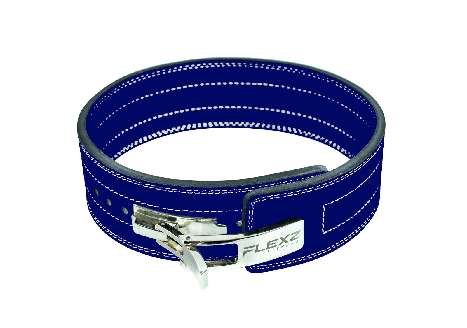 Flexz Fitness Lever Buckle Powerlifting Belt 10mm Weight Lifting Blue X Large by Flexz Fitness (Image #2)