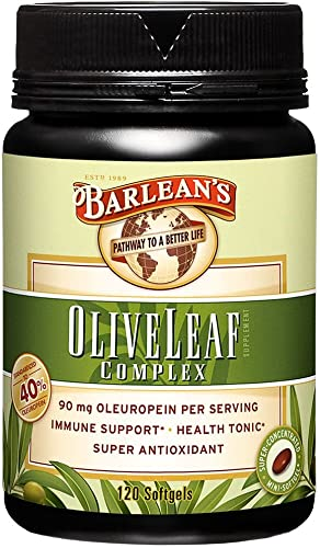 Barlean s Organic Oils 120ct Olive Leaf Complex Softgels, 120 Count