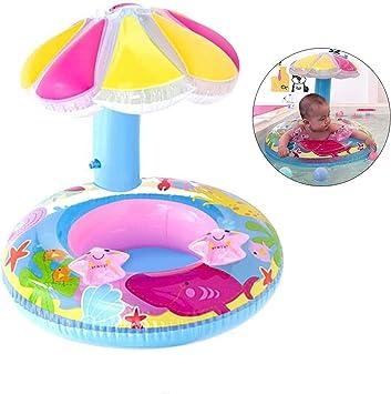 Sunshine smile Anillo de natación Bebe,Anillo de natación Inflable,Anillo de natación Asiento,Anillo de natación,Flotador de Piscina para bebés (D)