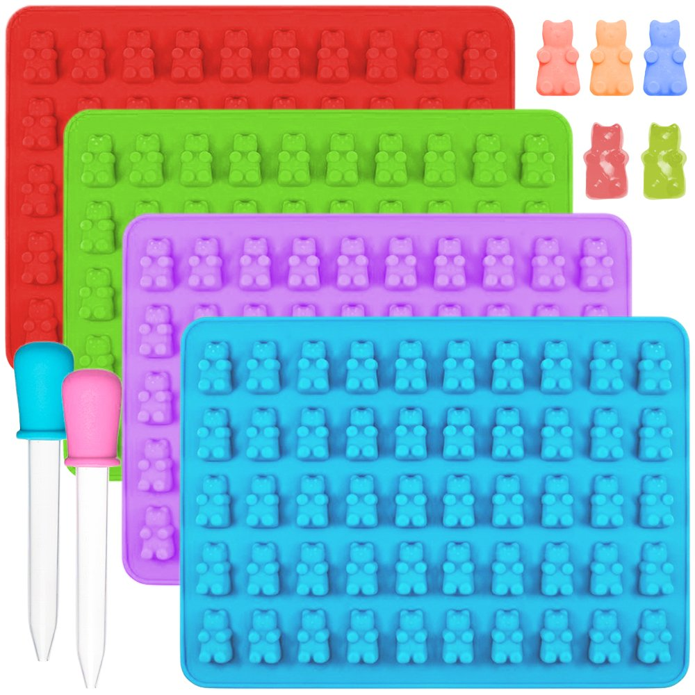 IHUIXINHE Food Grade Silicone Non-Stick Ice Cube Mold, Jelly, Biscuits, Chocolate, Candy, Cupcake Baking Mould, Muffin Pan (Duck & Dinosaur 2PCS) EXPSFN009326