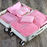 Styleys Baby Pink Set of 6 Packing Cubes Travel Organizer