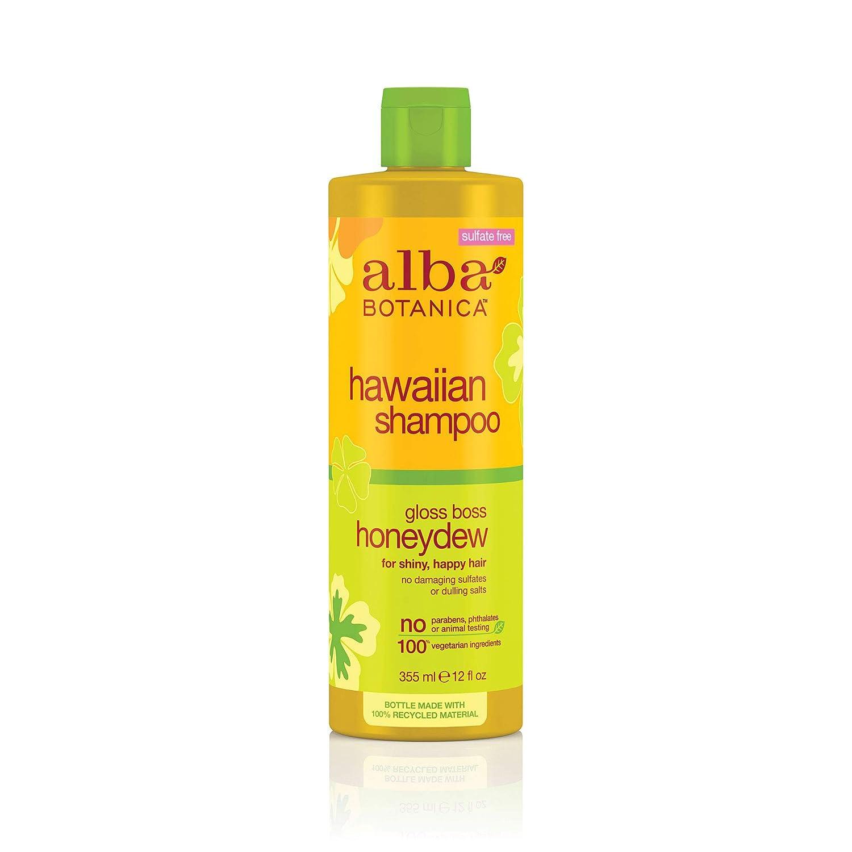 Alba Botanica Hawaiian Hair Care Honeydew Gloss Boss Shampoo, 12 Fluid Ounce