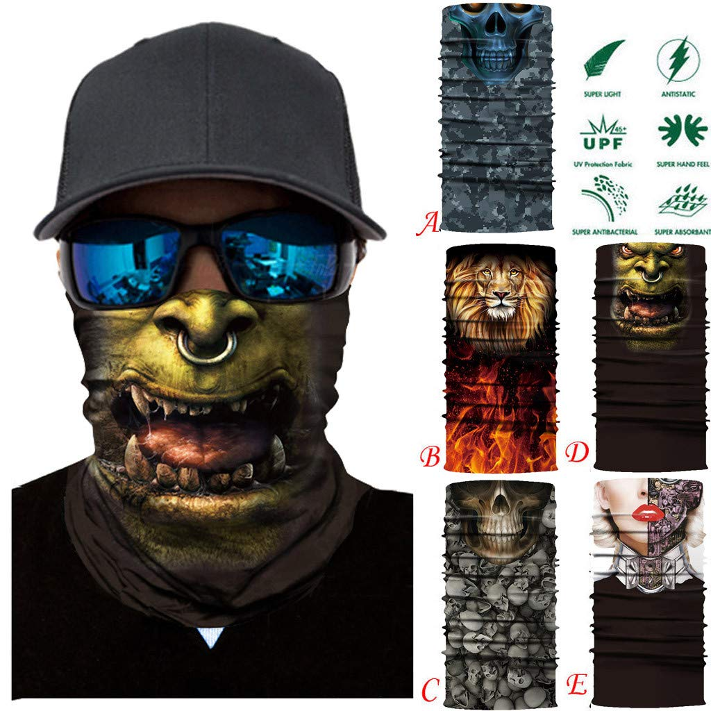 HighlifeS Cycling Motorcycle Head Scarf Full Function More Colors Ski Motorcycle Neck Tube Warmer Cycling Biker Scarf Wind Face Mask (A)