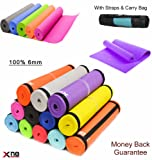 Yoga Mat 6mm Soft Non Slip Extra Thick ABs Exercise Fitness Gymnastic Physio Pilates Workout Pad