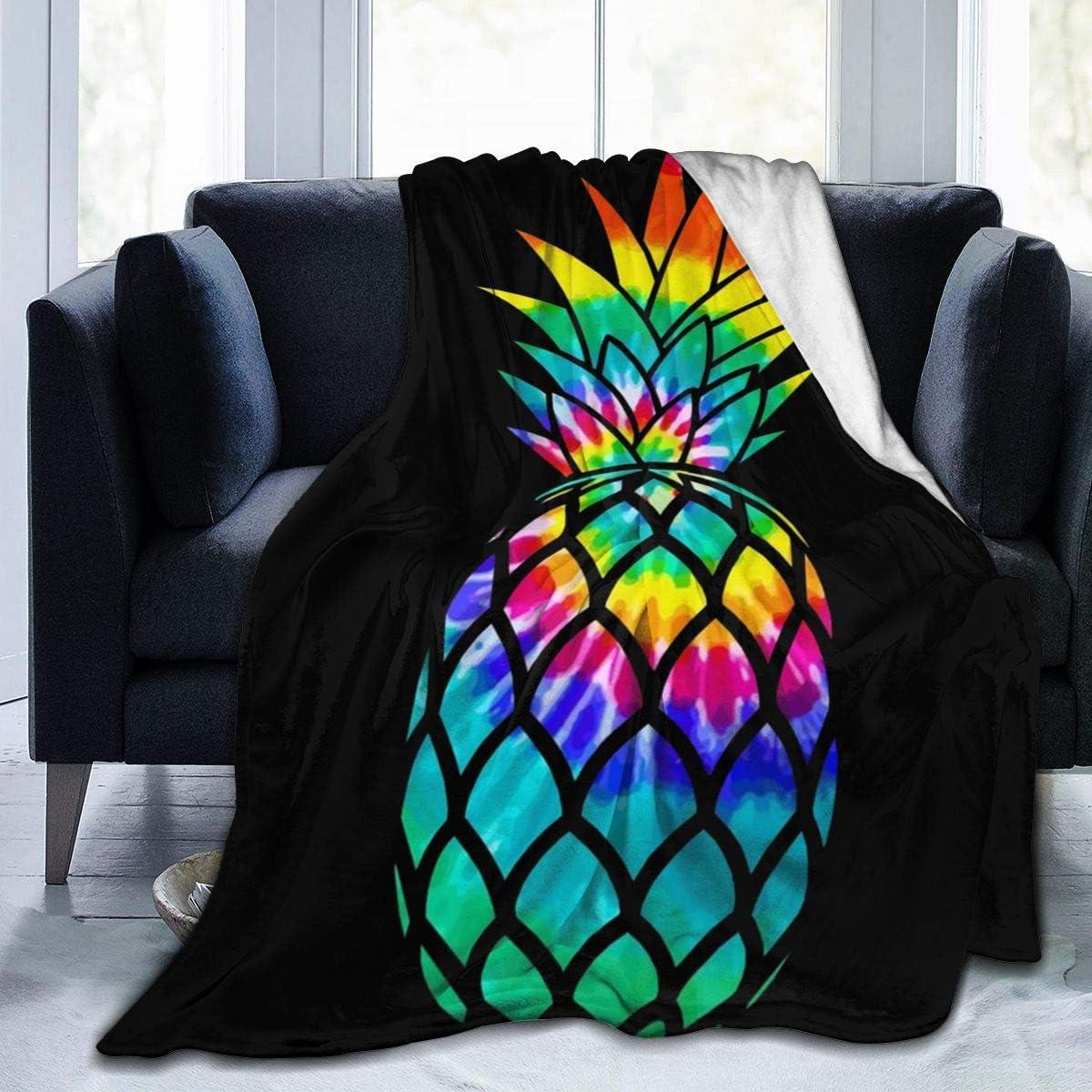 AUISS Plush Throw Velvet Blanket Dyed Pineapple Fluffy Fleece Carpet Chair Bed for Kids Durable Sleep Mat Pad Flannel Cover for Summer