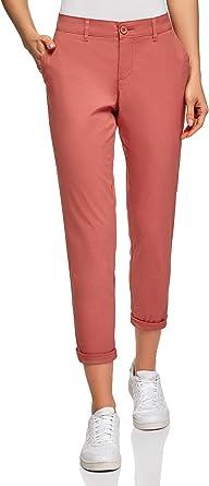 oodji Ultra Mujer Pantalones Chinos de Algodón: Amazon.es: Ropa y accesorios