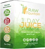 1 Day Juice Cleanse Detox, 8 Powder Packets, Travel and Vegan
