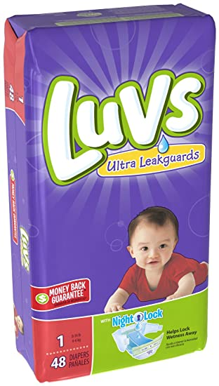 Amazon.com: Luvs Ultra Leakguards Newborn Diapers Size 1, 48 Count ...