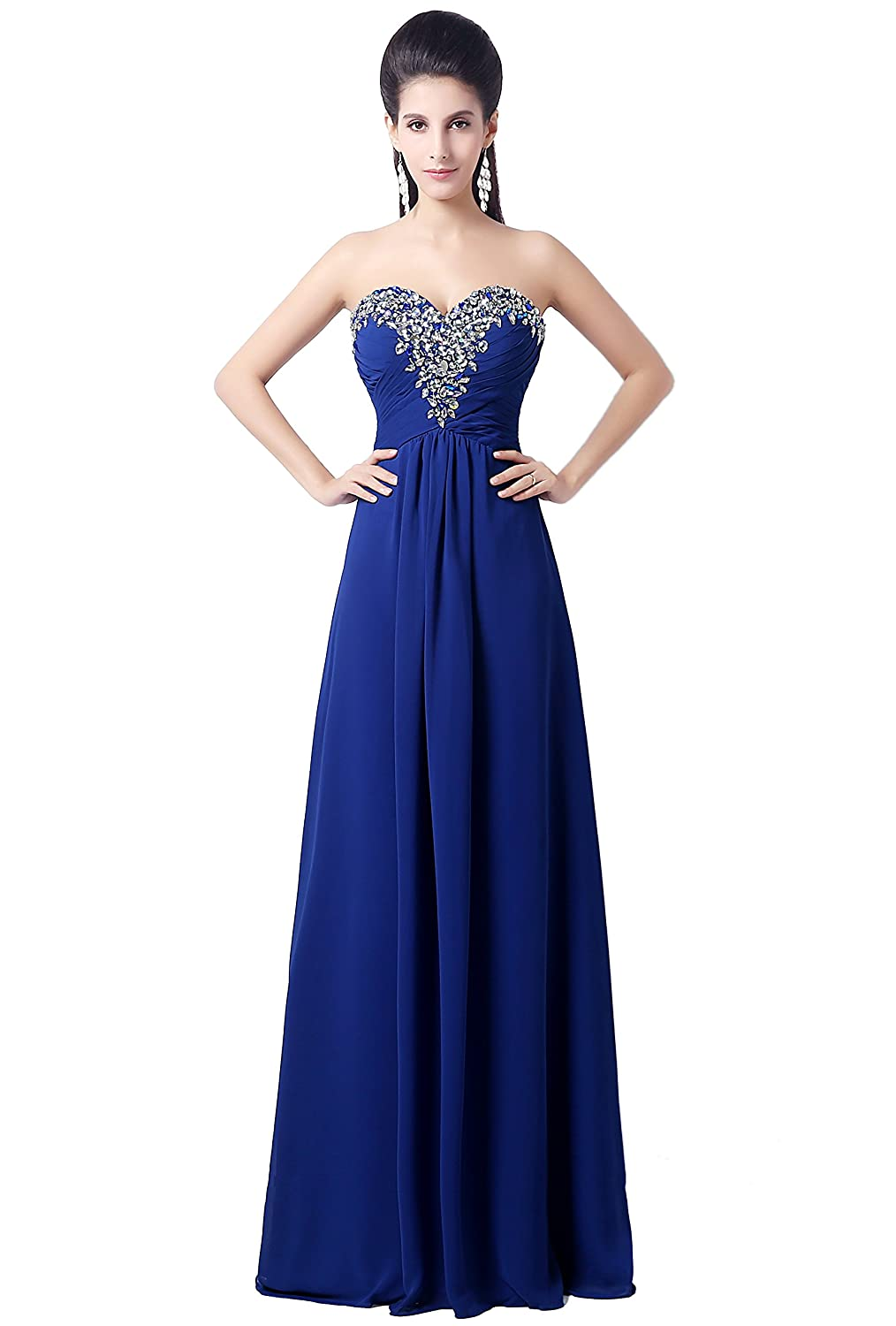 Bridal Mall Women's Bridesmaid Dress Sweetheart Chiffon Party Evening Gowns