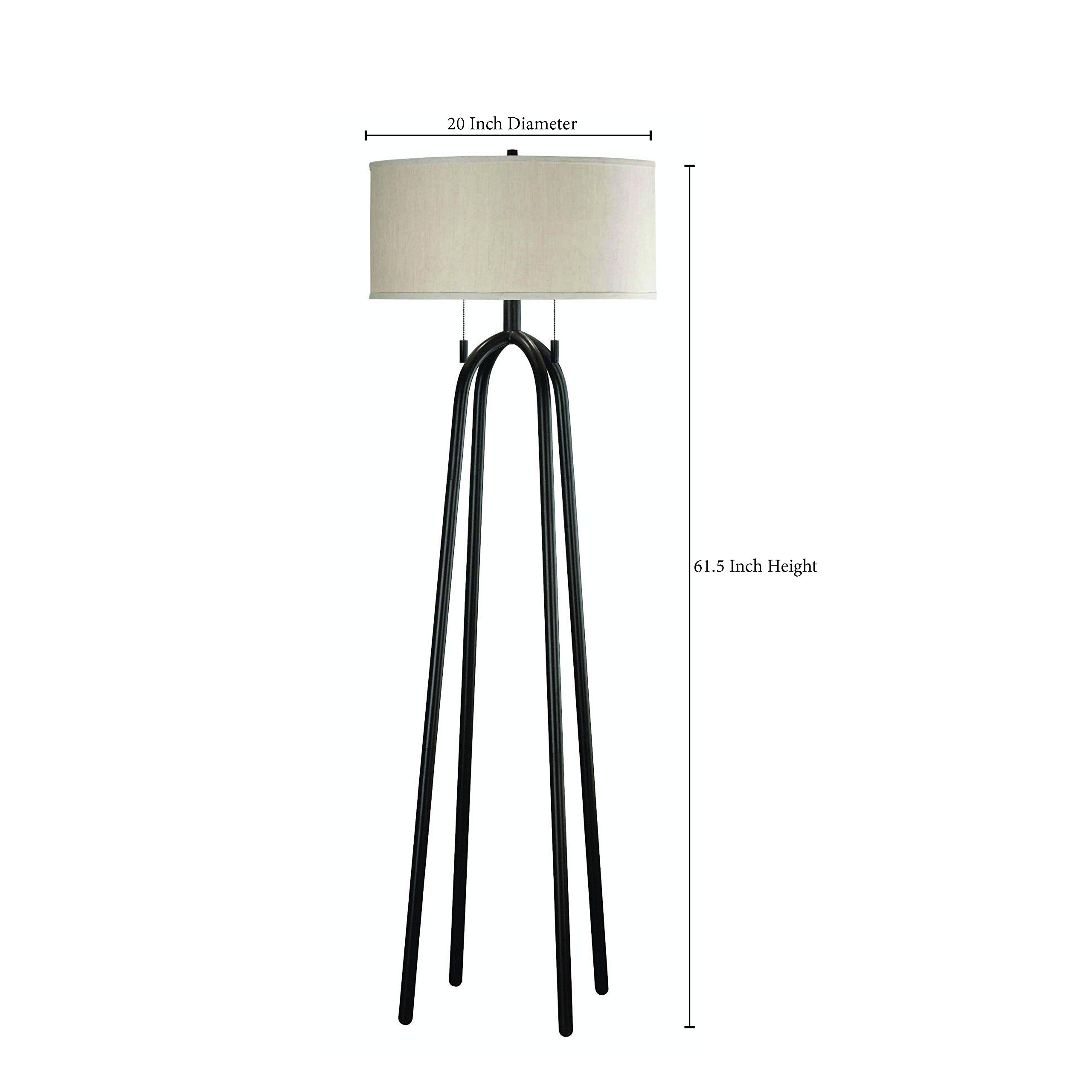 Kenroy Home Quadratic 61 Inch Floor Lamp In Oil Rubbed Bronze Finish With Tan Drum Shade by Kenroy Home