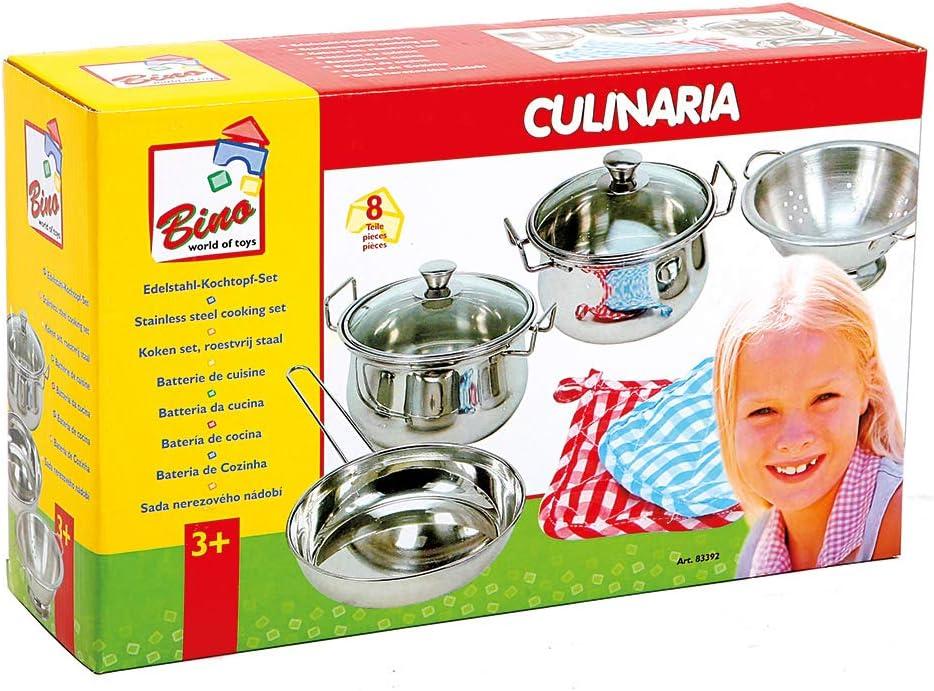Bino 83392 - Set de 8 Utensilios de Cocina de Acero Inoxidable [Importado de Alemania]: Amazon.es: Juguetes y juegos