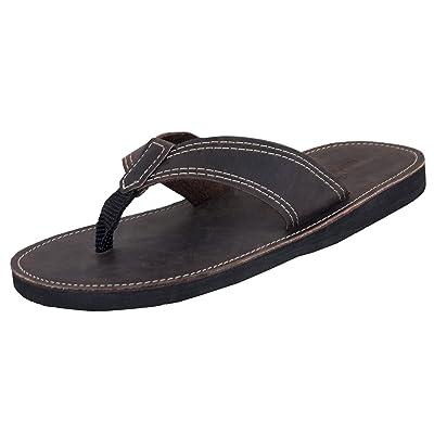 Mario Pellino Mens Flip Flops Handmade Genuine Leather Flip Flops for Mens | Sandals