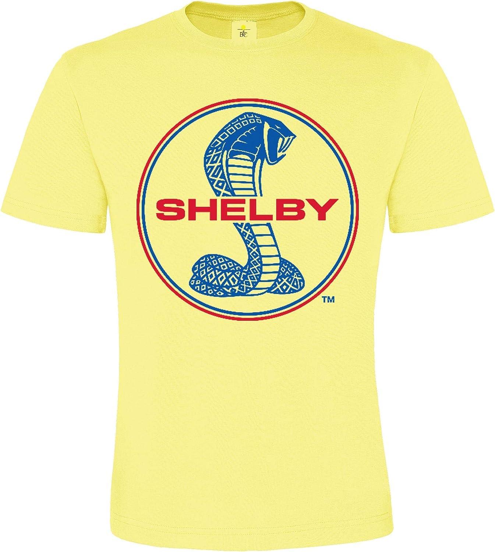 Motif Automobile T-Shirt pour Enfants et Adultes Motif de Plaisir Lifestyle Regular fit DarkArt-Designs Mode de Vie T-Shirt Shelby Cobra Logo