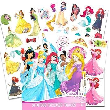 Amazon.com: Disney Princess Over 50 Temporary Tattoos: Health ...