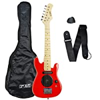3rd Avenue STX05RD Electric Guitar, Red, Size 1/4