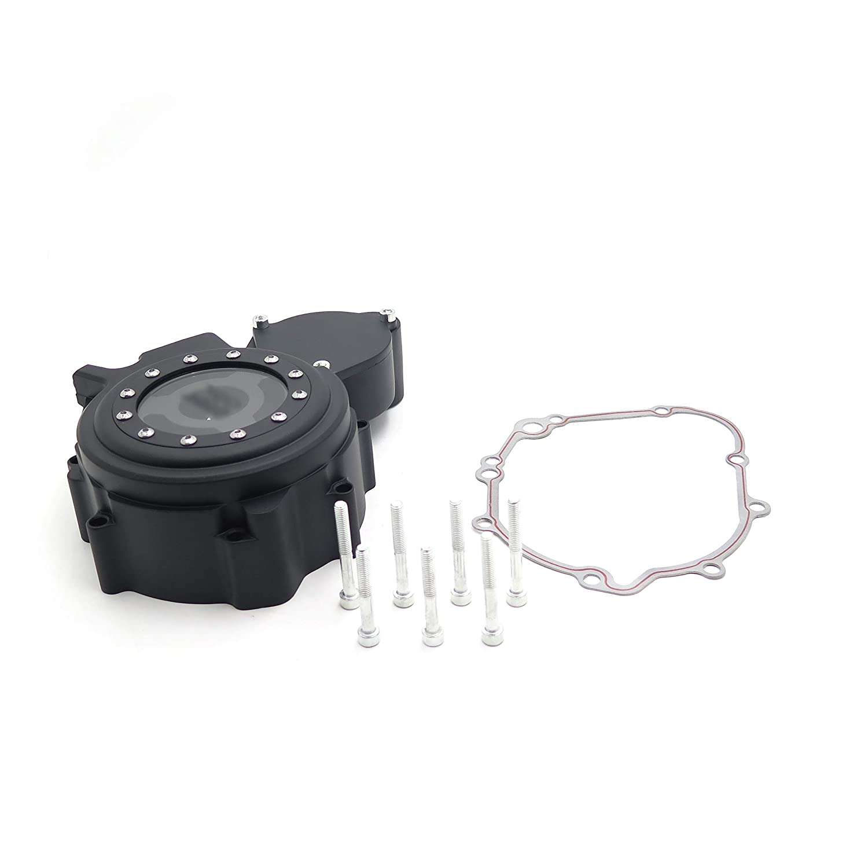XKMT-Black Left Engine Stator Cover See Through Compatible With Suzuki 06-13 GSXR 600//750 w//gasket B01MSSBR5O