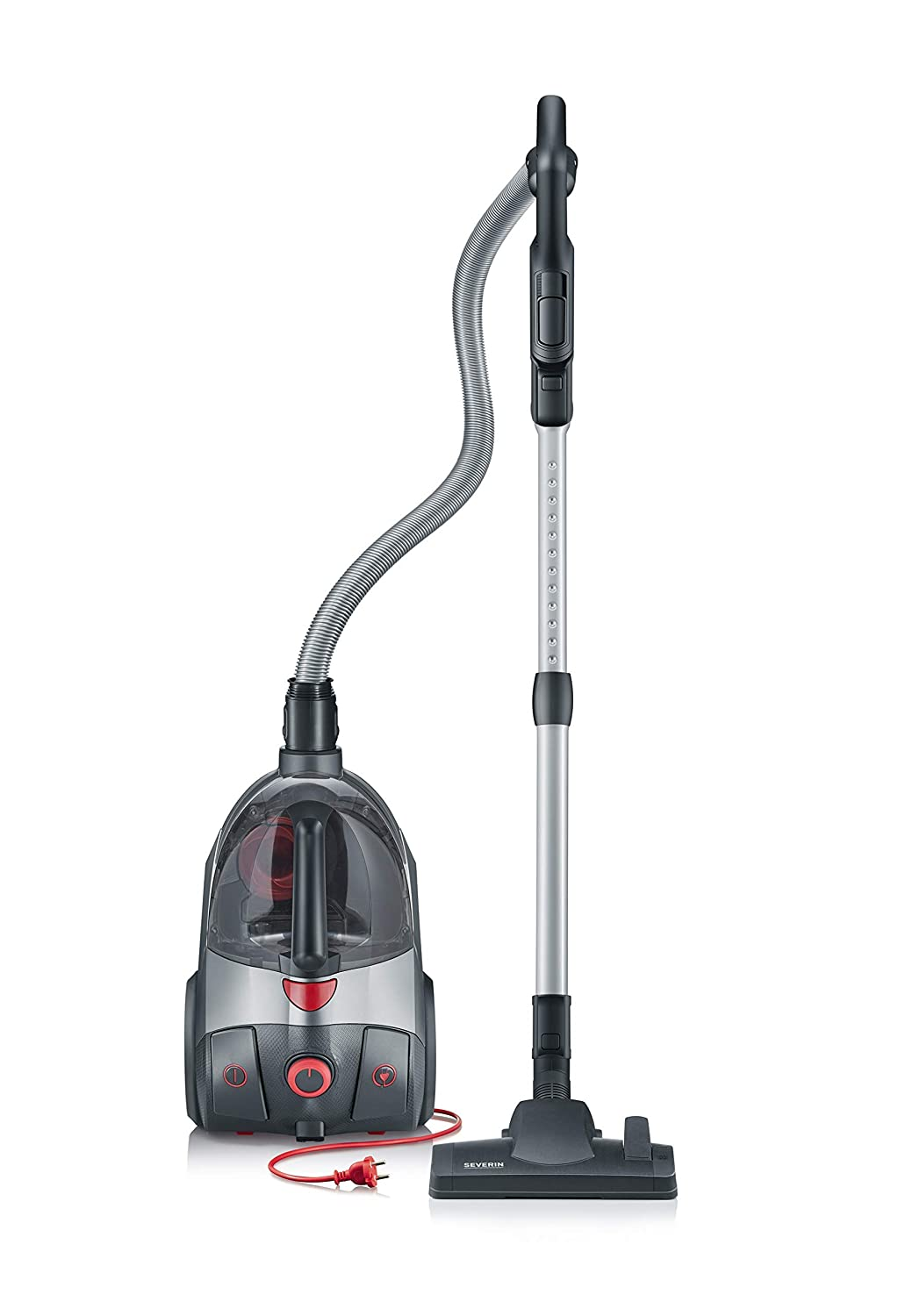 Severin S'Power Extreme Bagless Canister Vacuum Cleaner, Midnight Black (Renewed)