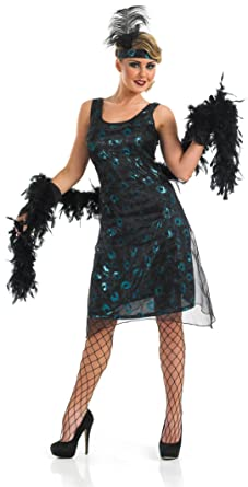 1920s Party Dress - with headband boa and gloves sizes 6-22 (Women ...