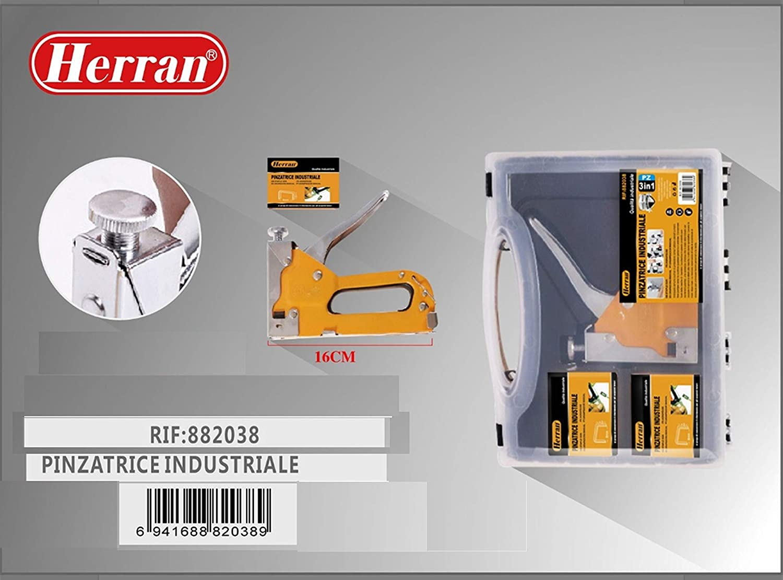 Herran-Pinzatrice Indutriale Graffatrice Manuale Professionale Pistola per Graffette//Cucitrice