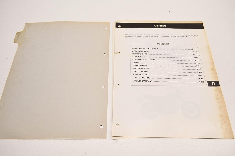 Suzuki 99000 85602 1e3 Gs450l Service Manual Supplement Gs450 Wiring Diagram Qty 1 Automotive