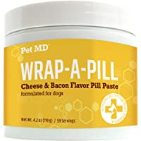 Pet MD Wrap A Pill Cheese & Bacon Flavor Pill Paste for Dogs - Make a Pocket or Pouch to Hide Pills & Medication