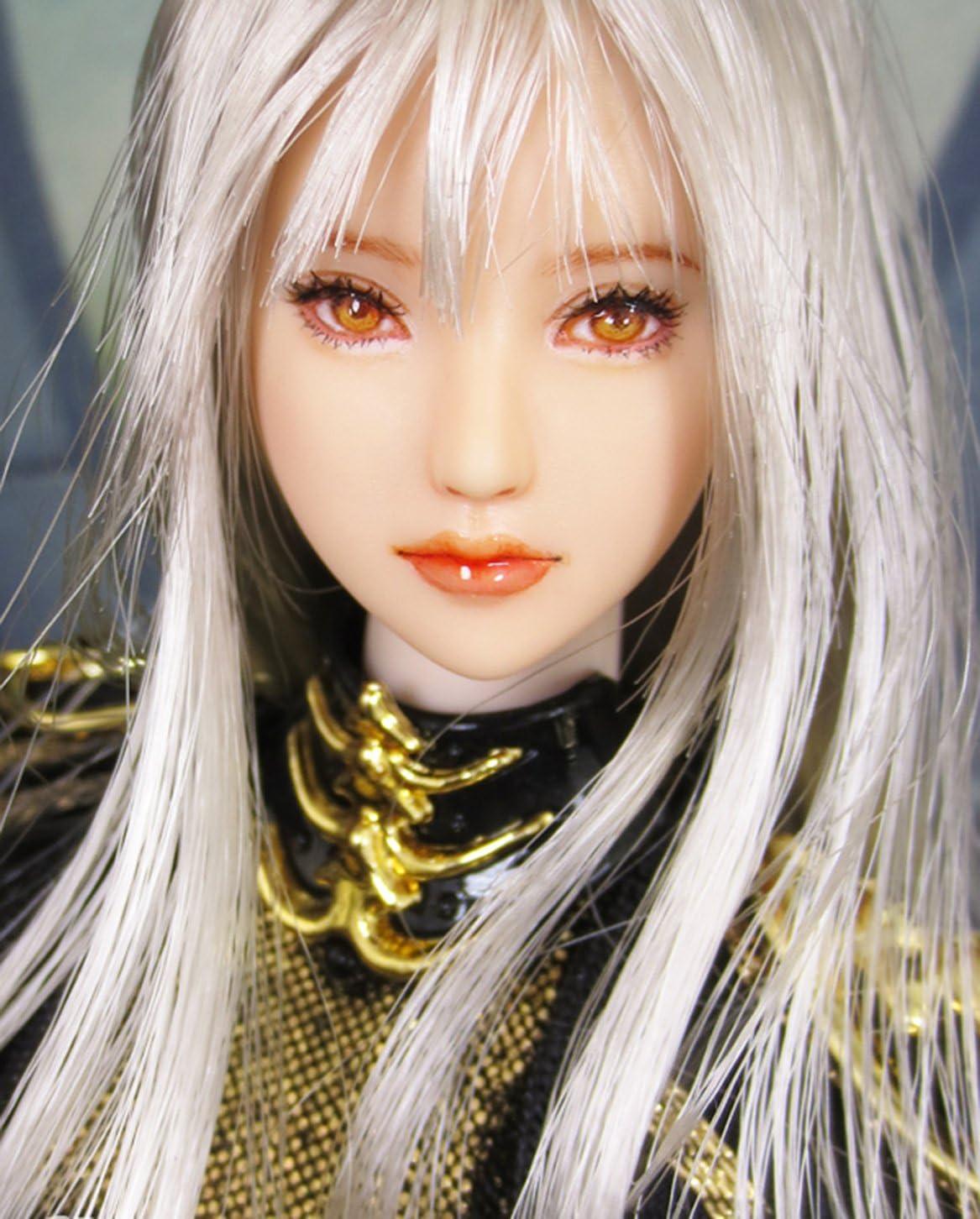Anime Style Beauty Charming Girl Doll Head for 12 Action Figure TBLeague//Obitsu//JIAOU CDH65 HiPlay 1//6 Scale Female Figure Head Sculpt 100/% Handmade /& Customized Makeup Natural Skin
