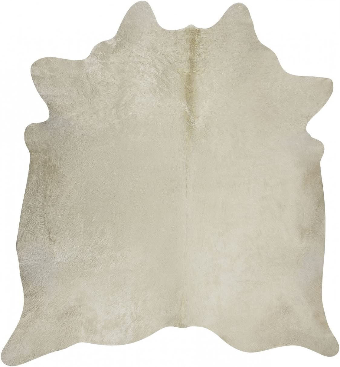 RODEO Natural White Cowhide Rug 7X8