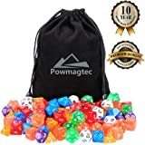 Polyhedral Dice Pack of 104 Dices in Multiple Colors | At Least 17 Complete Sets | 4, 6, 8, 10, 12, 20 Sided and Percentile Dice Included |At Least 7 Colors| Large Durable Velvet Included