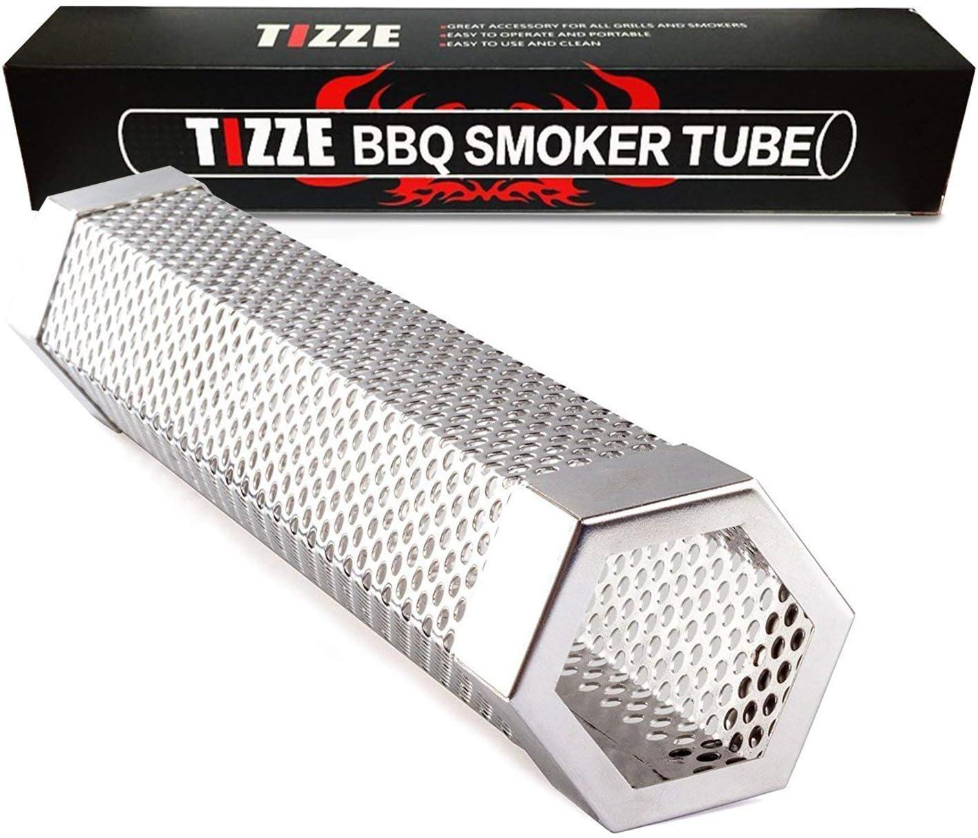"6/""//12/"" Stainless Steel Mesh BBQ Smoke Generator Barbecue Pellet Smoker Tube US"