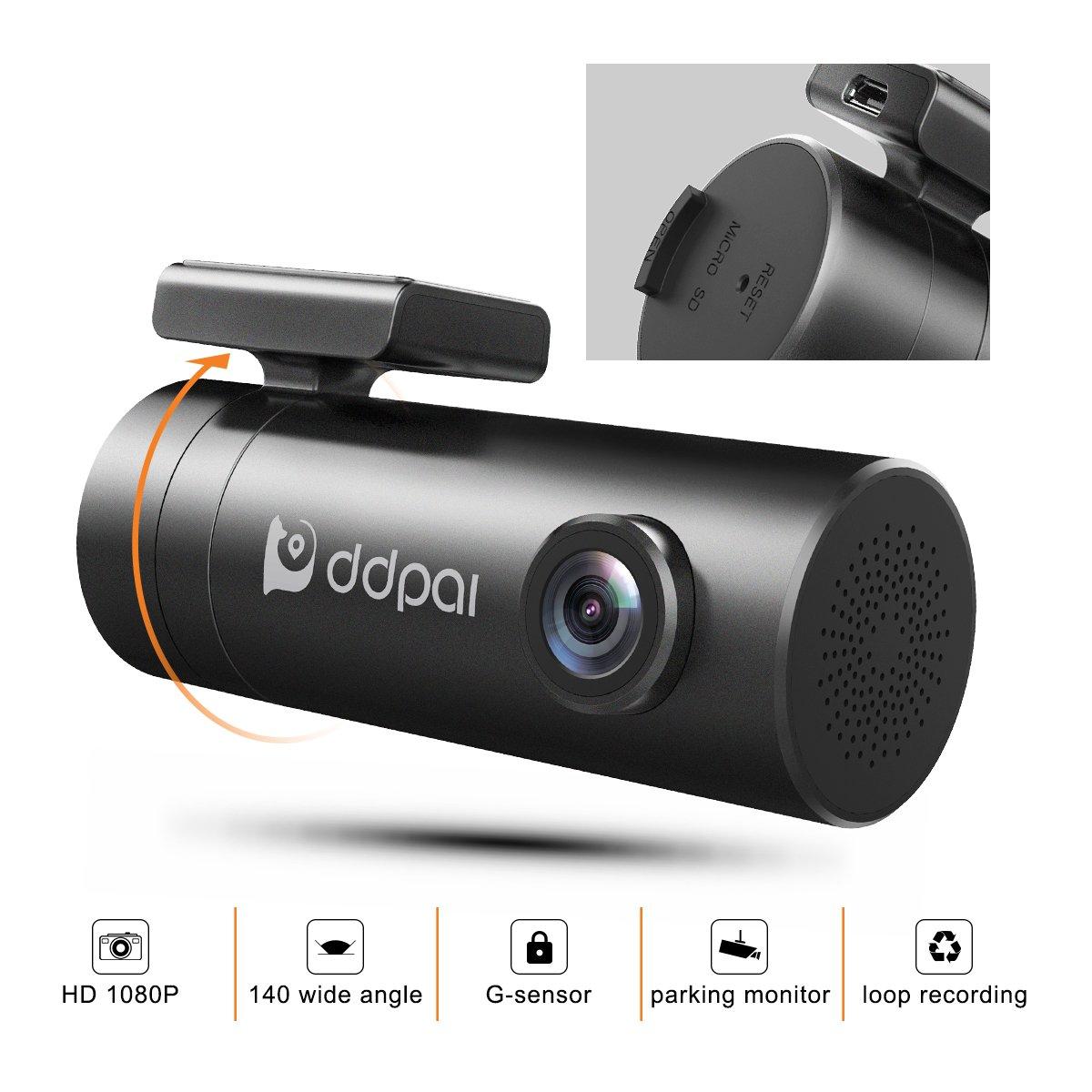 WiFi Dash Cam DDPai Mini Pro Car Camera - 1080P HD Dashboard Camera F1.8 Aperture WDR for Better Night Driving Recorder 4-Lane Wide-Angle Lens G-Sensor Loop Recording Sony Sensor