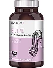 NUTRIMEA • BIOTINE Cheveux & ongles • Complément alimentaire cheveux optimisé par synergie Zinc & Selenium • Accélérateur de pousse rapide de cheveux, ongles forts, peau parfaite éclatante