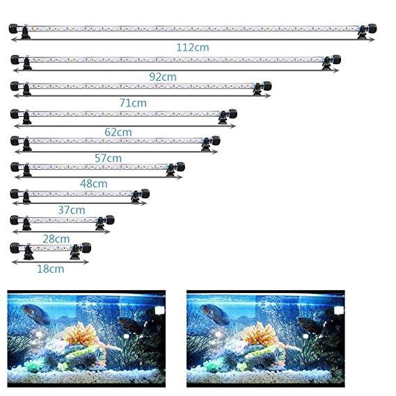 MLJ Acuario LED Iluminación, Iluminación LED para Acuarios Plantados Lámpara LED para Peceras Resistente al Agua Luz para (Deutschland Lagerhaus) (62cm, ...