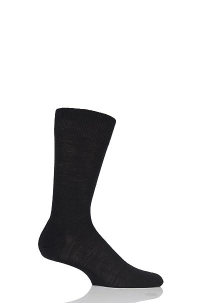 Mens 1 Pair Pantherella Camden Merino Wool Plain Socks by Pantherella